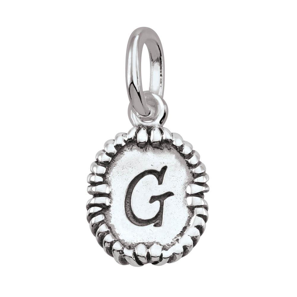 Letter G, Script Persona jewelry  Amulets color Silver