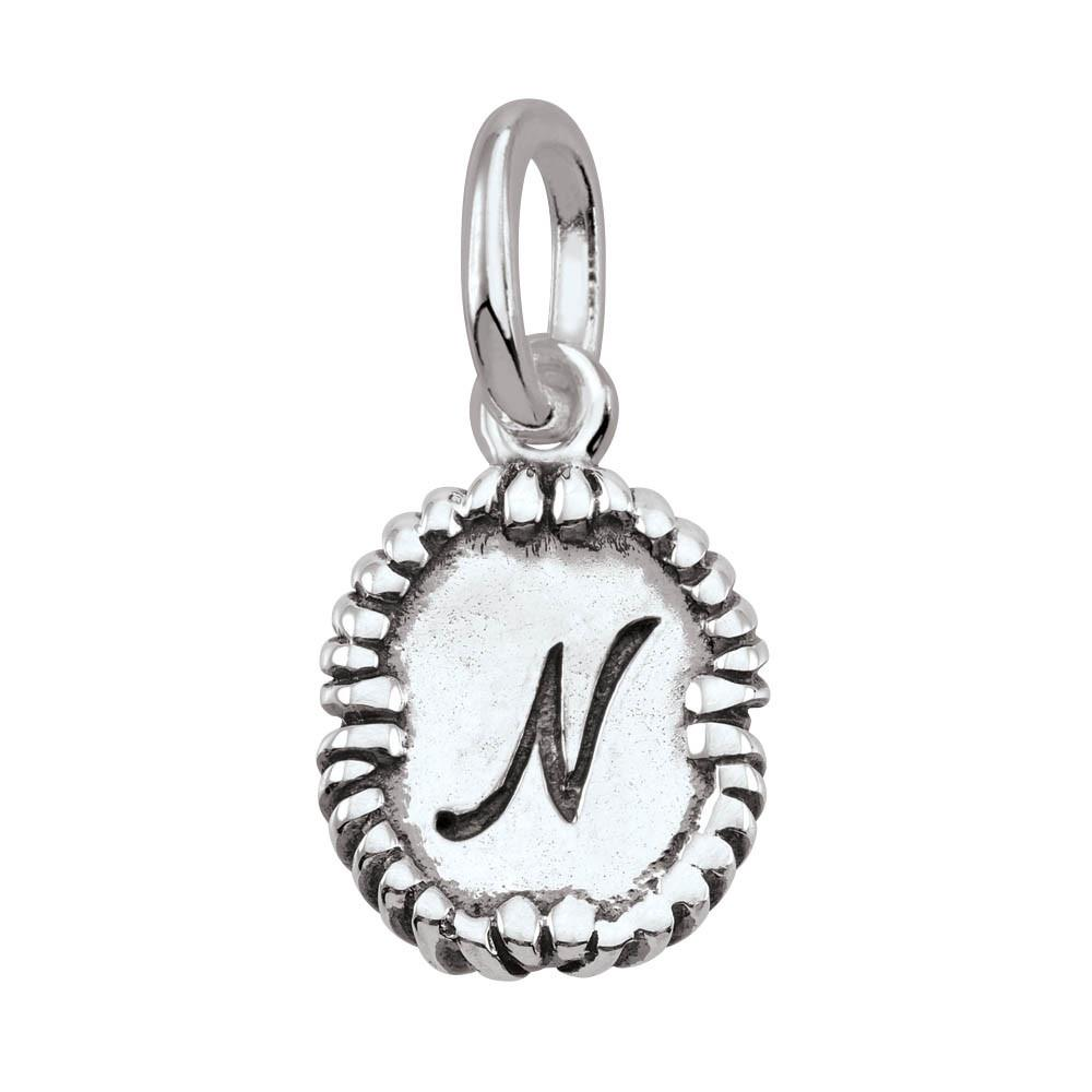Letter N, Script Persona jewellery  Amulets colour Silver