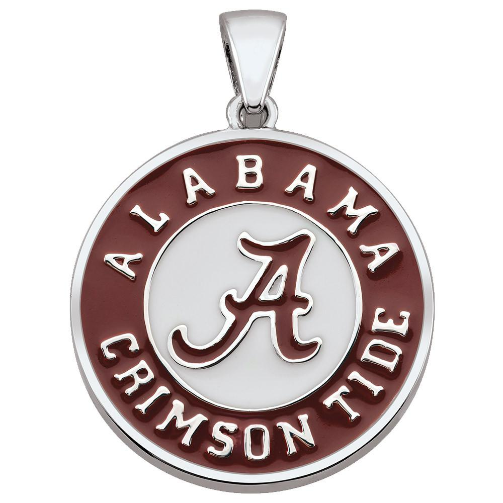 Alabama Crimson Tide Pendant Campus Life style Necklaces Sterling Silver Enamel Collegiate collection  University of Alabama