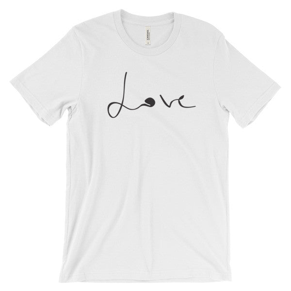 """love"" super soft unisex t-shirt"