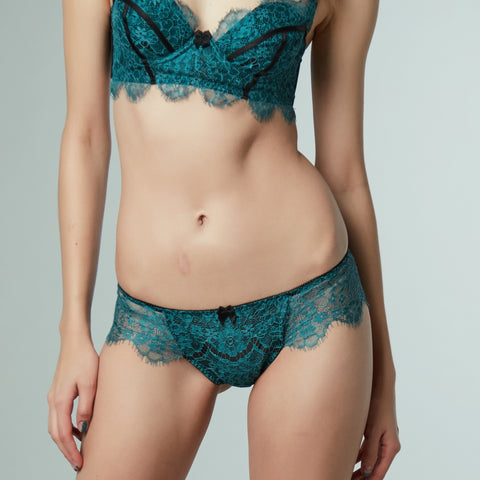 SEDUCTION | Classic Lace Brief - VIRIDIAN