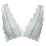 ECLIPSE | Non-wired lace triangular bra - MINT