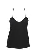 ECLIPSE | Back lace Camisole - BLACK