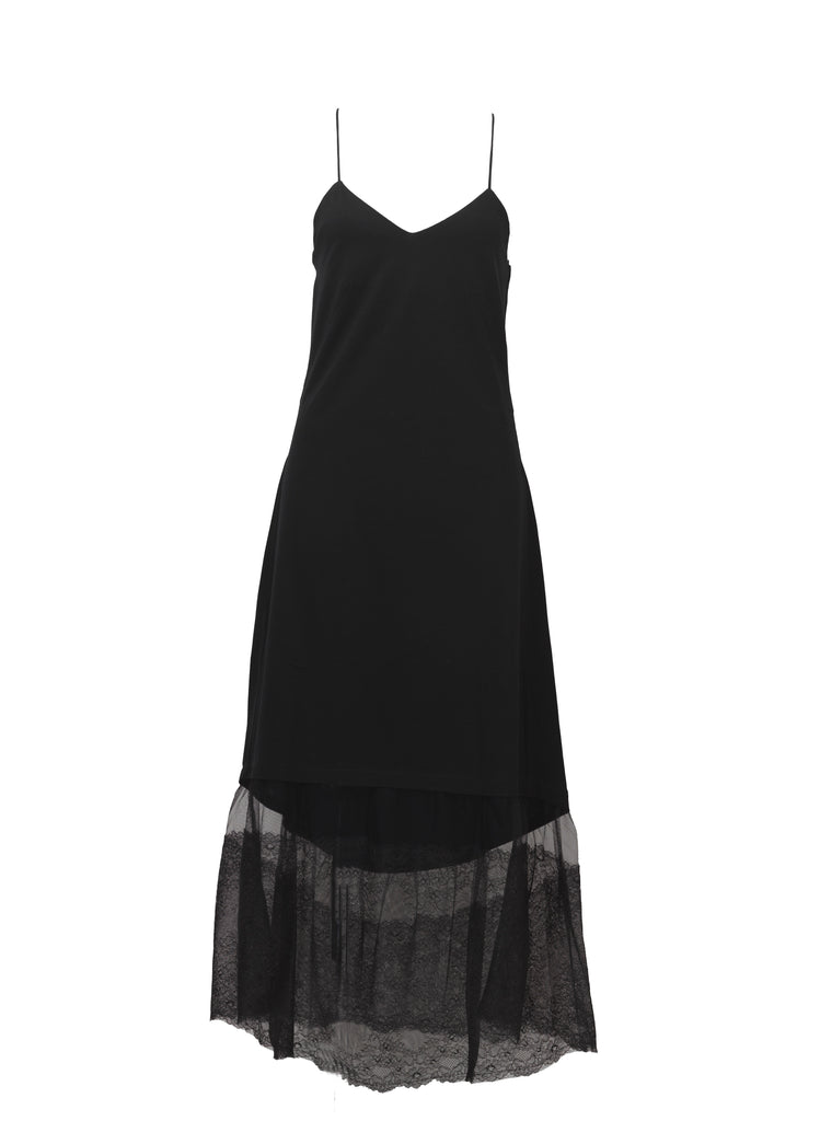 ECLIPSE | Lounge long dress - BLACK