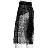 SEDUCTION | Sheer lace Pencil Skirt - VIRIDIAN