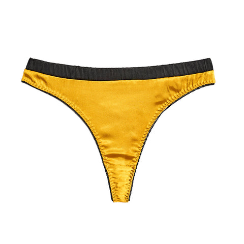SCANDALOUS CHIC | Satin Tanga - Gold