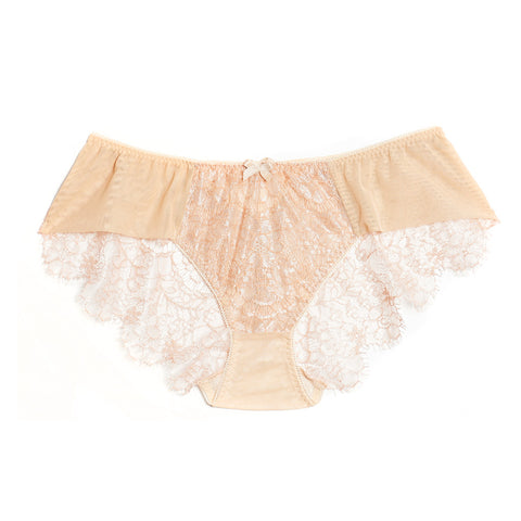 Akiko Ogawa Lingerie 2017S/S SEDUCTION Lace Back Brief - Beige - Front