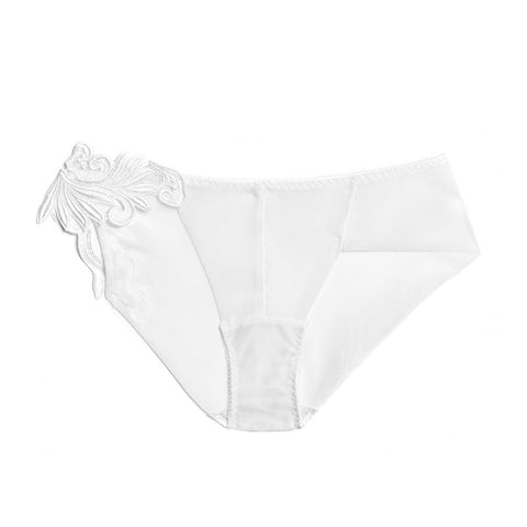 Akiko Ogawa Lingerie 2017S/S LUX White Motif Hipster Brief Front