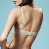 Akiko Ogawa Lingerie | Seduction - Molded push-up Bra - Beige - Model - Back