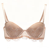 Akiko Ogawa Lingerie | Seduction - Strapless Molded push-up Bra - Beige - Front - Straps