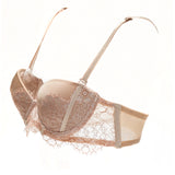 Akiko Ogawa Lingerie | Seduction - Strapless Molded push-up Bra - Beige - Side