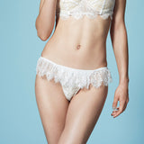 SEDUCTION | High Cut Lace Frill Tanga - White