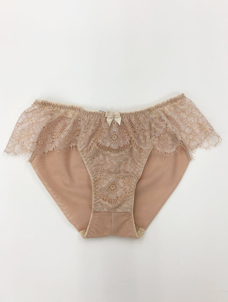 SEDUCTION | Classic Lace Brief - NUDE