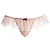 Akiko Ogawa Lingerie 2016A/W SEDUCTION Pink High Cut Lace Frill Tanga Front