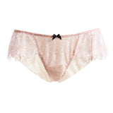 Akiko Ogawa Lingerie 2016A/W SEDUCTION Pink Classic Low Rise Lace Brief Front