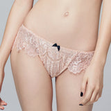 Akiko Ogawa Lingerie 2016A/W SEDUCTION Pink Classic Low Rise Lace Brief Front Look