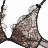 Akiko Ogawa Lingerie 2016A/W SEDUCTION Black Soft Cup Non-Wired Triangular Bra Detail