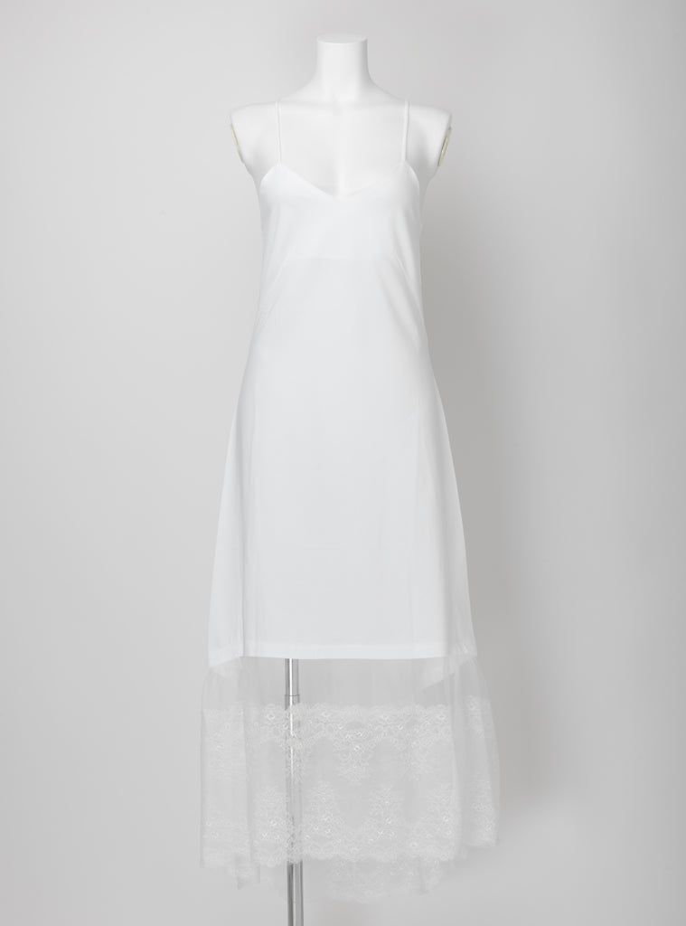 ECLIPSE | Lounge long dress - WHITE
