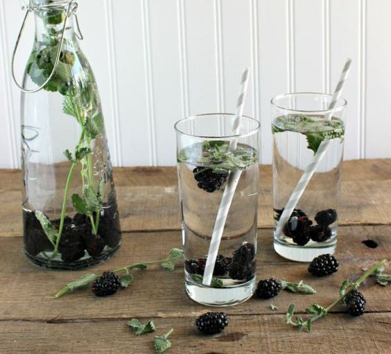 Mint, BlackBerry & Coconut water