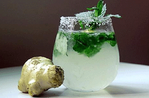Ginger, Mint and Cucumber Water