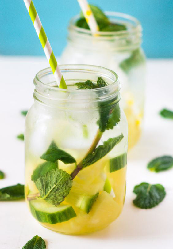Pineapple, Cucumber & Mint infused water