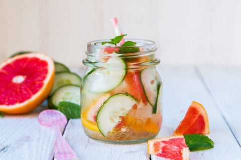 Grapefruit, Mint & Cucumber infused water image