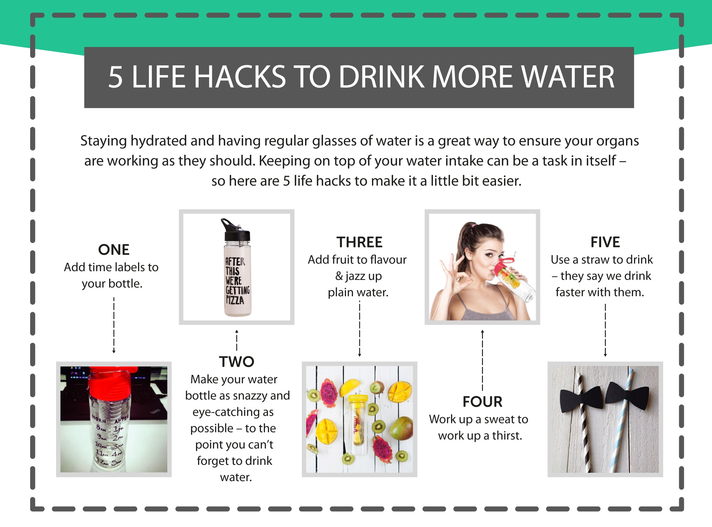 5 Life Hacks to Drink More Water
