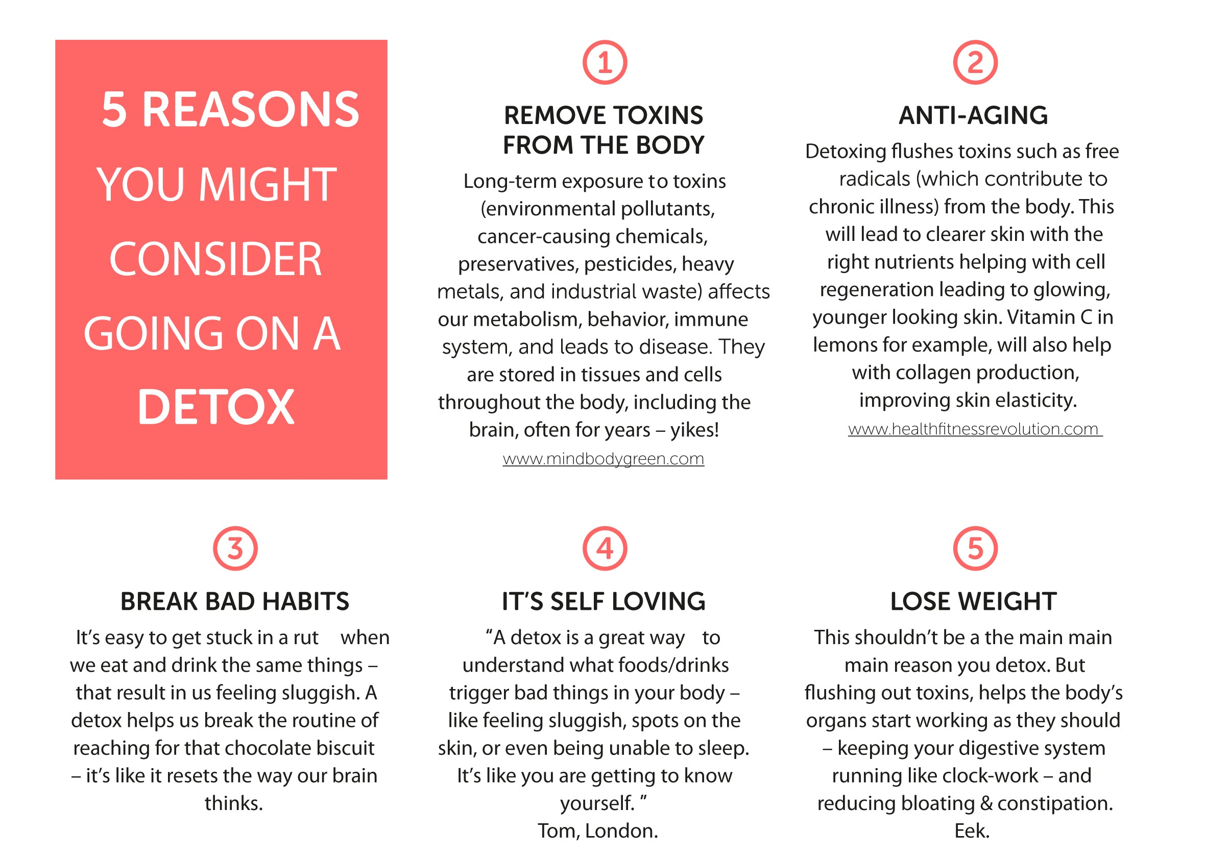 5 Reasons you might choose to detox
