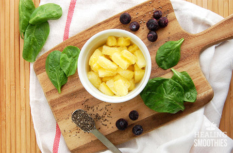 Pineapple, Blueberry & Basil infused water recipe