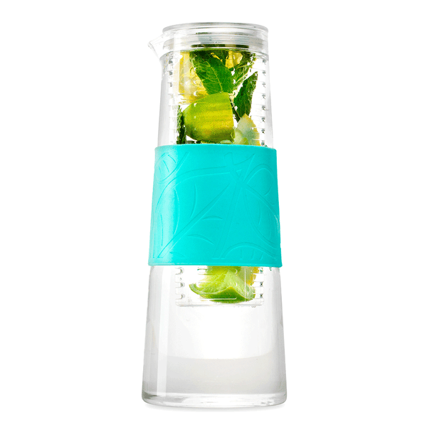 Infruition Jug with Mint silicon grip - 1lt fruit infused jug
