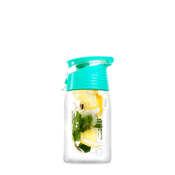 Infruition Mini fruit infusing water bottle in Mint Blue
