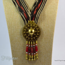 "TRIBAL PENDANT NECKLACE <span class=""subtitle"">- Tboli Fabric Design </span>"