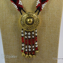 "TRIBAL PENDANT NECKLACE <span class=""subtitle"">- Tboli Beaded Ornament </span>"
