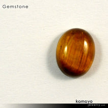 TIGER EYE Gemstone - 10x8mm Oval Yellow Tigers Eye Loose Stone
