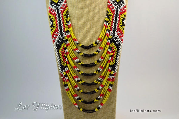 Tribal Statement Necklace - Ethnic Mandaya Beaded Design