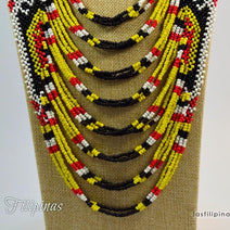 "TRIBAL STATEMENT NECKLACE <span class=""subtitle"">- Ethnic Mandaya Beaded Design </span>"