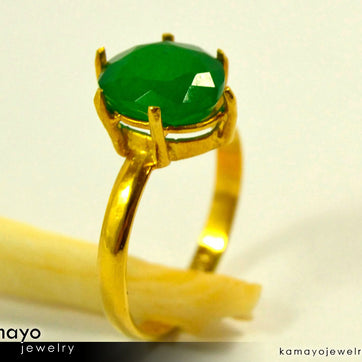 Gold Aventurine Ring - 10X8Mm Green Aventurine Ring For Women
