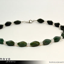 MOSS AGATE NECKLACE - Green Choker for Men or Women's Princess Necklace