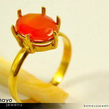 "Gold CARNELIAN Ring <span class=""subtitle subtitle-1"">- 10x8mm Orange Carnelian Ring for Women </span><span class=""subtitle subtitle-2"">- 18K Gold </span><span class=""subtitle subtitle-3"">- </span>"