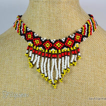 "TRIBAL CHOKER NECKLACE <span class=""subtitle"">- Ethnic Mandaya Beaded Design </span>"