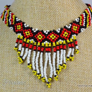 Tribal Choker Necklace - Ethnic Mandaya Beaded Design