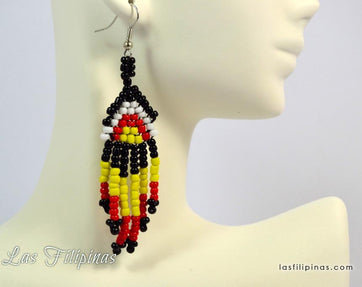 Tribal Earrings - Ethnic Mandaya Design