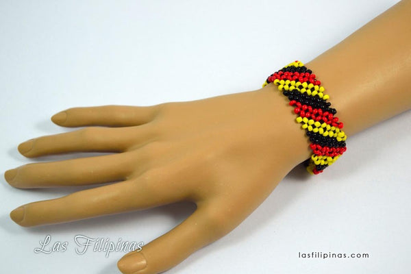 Tribal Bracelet - Slender Ethnic Mandaya Beaded Design