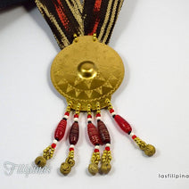 Tribal Pendant Necklace - Tboli Fabric Design