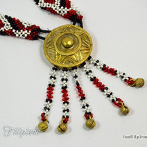 Tribal Pendant Necklace - Tboli Beaded Ornament