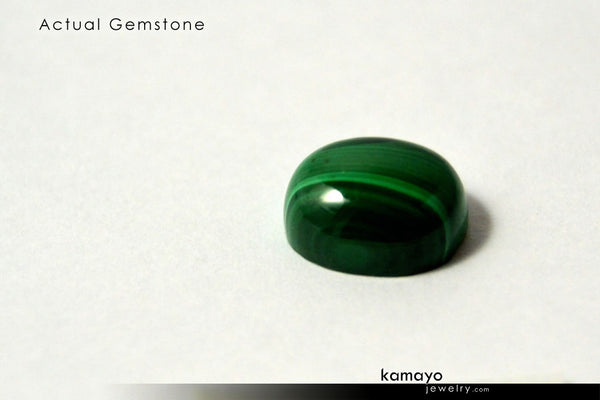 MALACHITE Gemstone - 10x8mm Oval Green Loose Stone