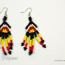 "TRIBAL EARRINGS <span class=""subtitle"">- Ethnic Mandaya Design </span>"
