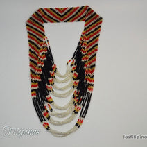 "TRIBAL STATEMENT NECKLACE <span class=""subtitle"">- Ethnic Tboli Beaded Jewelry </span>"