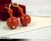 Red Jasper Earrings - Beaded Dangle Ear Rings For Women
