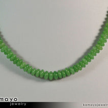 GREEN AVENTURINE NECKLACE - Roundel Beads